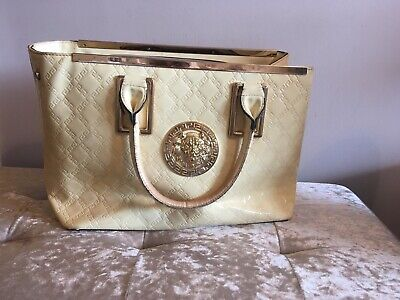 Cream Versace Inspired Bag / Not Perfect , Torn Lining Could Easily Fix