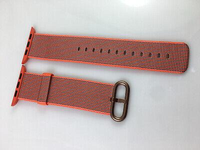 Original Apple Watch Woven NYLON Band Rose Gold buckle 42MM 44MM Space Orange