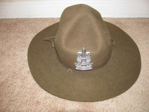 Boy Scout LEADER Campaign Hat with Chin Strap