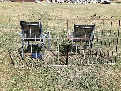 Vintage Metal Double Driveway Gates,heavy ,need Painting