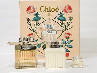CHLOE PERFUME FOR WOMEN 3PC GIFT SET EDP SPRAY 2.5 OZ + MINI + B/L NEW IN BOX