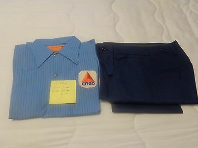 VINTAGE CITGO  GAS STATION UNIFORM SHIIRT & PAINTS