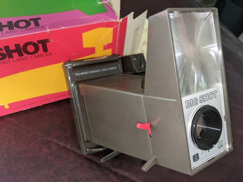 Vintage Andy Warhol Polaroid Big Shot Portrait Land Camera w/ Original Box