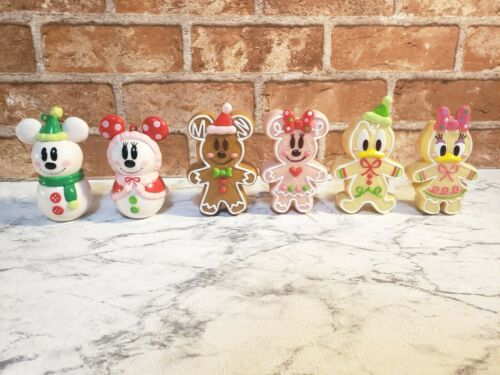 TOKYO Disney GingerBread Christmas Ornament Mickey Minnie Donald Daisy Snowman