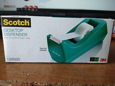 Scotch Classic Desktop Tape Dispenser Teal For 1-inch Core Tapes C-38-b