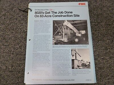 Link Belt Hsp-8020 Rough Terrain Crane Specification Lifting Capacities Manual
