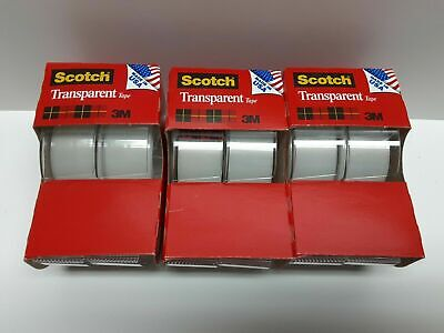 Scotch Transparent Tape 3 Packs Of 2 Rolls 34x 250 Made In Usa 6 Rolls