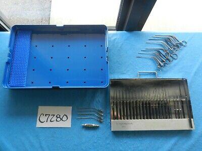 V. Mueller Symmetry Surgical Ent Ear Tymnoplasty Instrument Set W Case