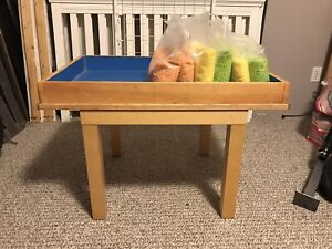 Kids Rice Table with Colored Rice