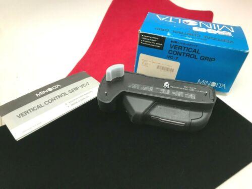 Minolta Vertical Control Grip VC-7 Original Box Instructions