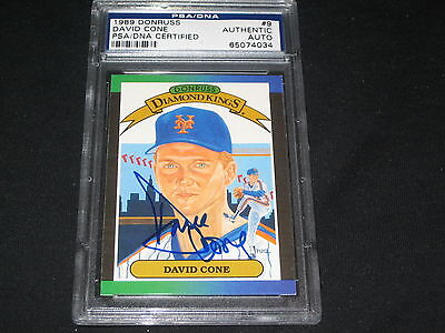 David Cone Hand Signed - DAVID CONE METS 1989 DONRUSS #9 LEGEND HAND SIGNED AUTOGRAPHED CARD PSA/DNA NICE