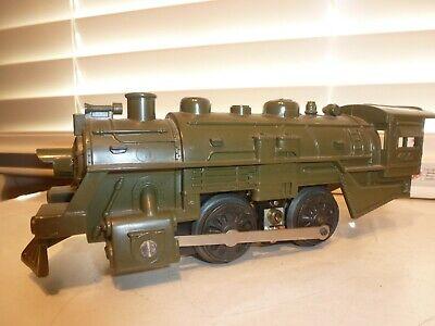 Marx O-Gauge Train 0-4-0 Olive Drab #400 Army Plastic Electric Steam Locomotive