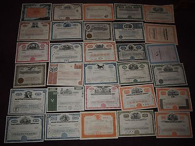 B - COLLECTION OF 30 VARIOUS SHARE CERTIFICATES EURODISNEY RAILWAY MINING BANK