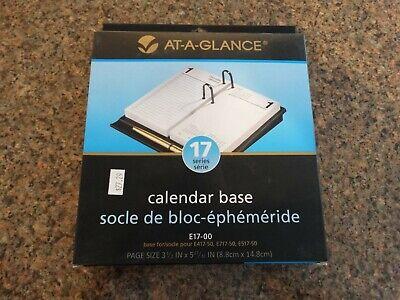 New In Box - At A Glance E17-00 Calendar Base Black