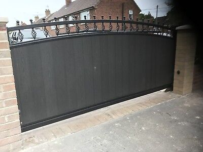Cantilever driveway Electric Sliding Gate Up To 10ft Opening