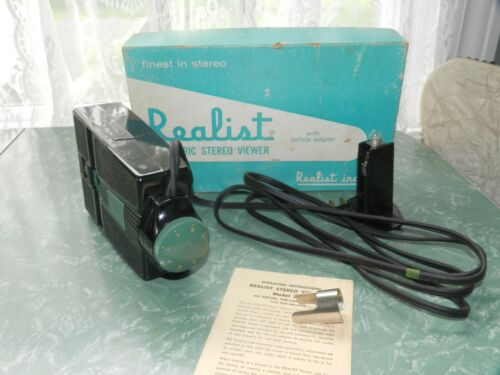 VTG RETRO REALIST ELECTRIC STEREO VIEWER CAMERA BATTERY ADAPTER 2062 IN BOX