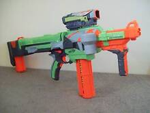 NERF Vortex Nitron Blaster – Full Auto – With Attachments & Discs Blakeview Playford Area Preview