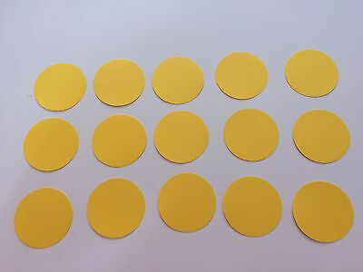 15 Kreise 5 cm in Gelb Tonpapier Stanzteile/Streuteile/Dekoteile (Gelber Kreis Papier)