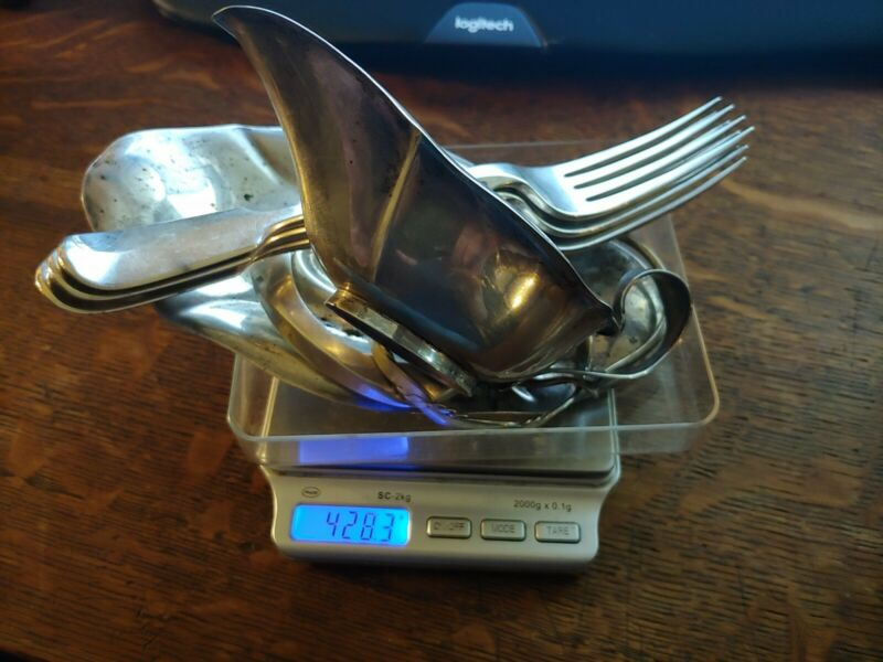 Sterling Silver 925 Scrap 428 Grams For Melt Or Use Misc Items All Solid