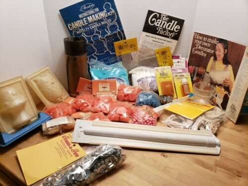NEWLY EXPANDED LISTING: CANDLE MAKING SUPPLIES LOT