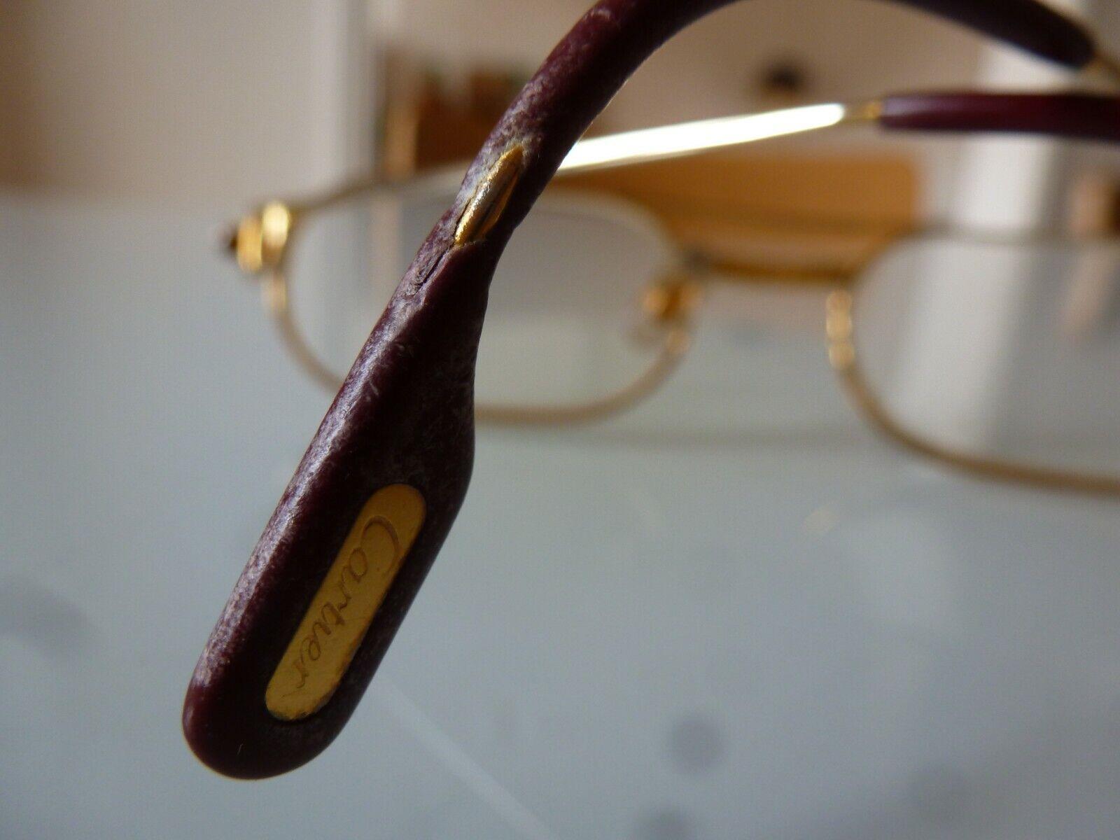Vintage 80's must cartier paris gold filled eyeglasses 55-20 140 lunettes