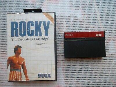 Jeu Master system Rocky + boite PAL retrogaming SEGA original*