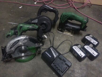 Hitachi 18v kit, saw, jigsaw, blower/vac, charger, 3 batteries  Oxenford Gold Coast North Preview
