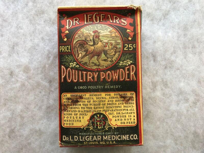 Dr. LeGear's Vintage Poultry Powder Original Unopened Package, 1 1/2 Lbs.