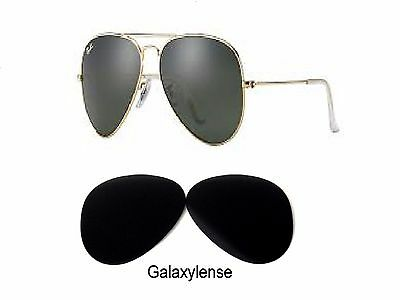 Galaxy Replacement Lenses Ray Ban RB3026 Aviator Black 62mm Sunglasses (Ray Ban 3026 Replacement Lenses)