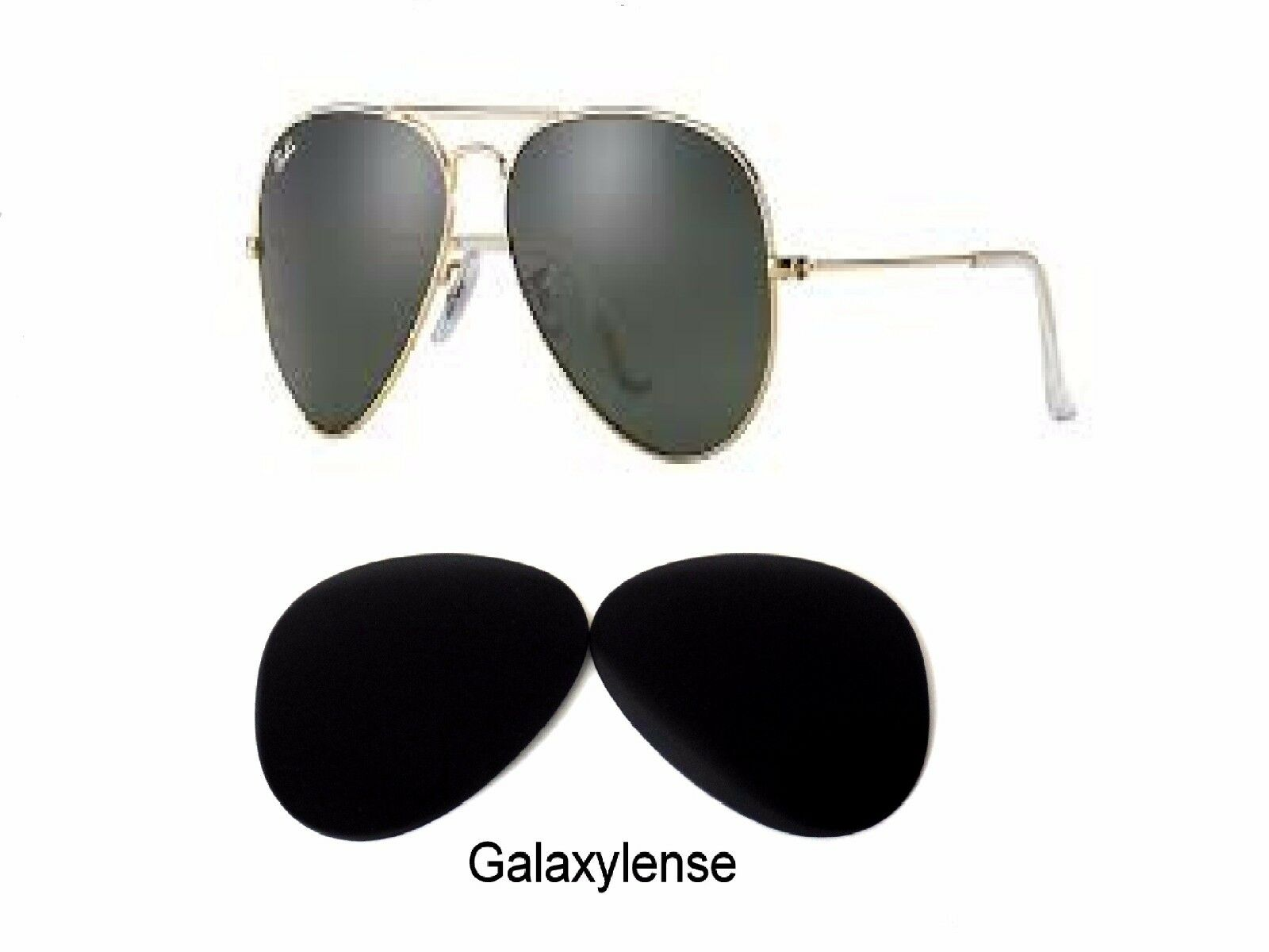 c65404df099 Galaxy Replacement Lenses For Ray Ban RB3025 Aviator Black 58mm Polarized