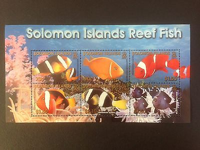 Solomon Islands 2001 Reef Fish Mini Sheet SG MS1002 MNH
