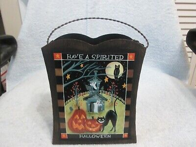 """Have A Spirited Halloween Decorative Box New No Tag Or Box 10"""" Tall 6.5"""" Wide"""