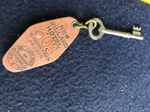 Vintage New Willard Hotel Klamath Falls Oregon room key