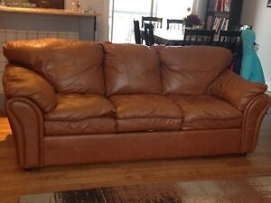 Premium High End Leather Couch Prince George British Columbia image 1