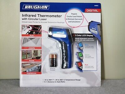 Vaughan 3-color Lcd Display Digital Infrared Thermometer With Circular Laser-new