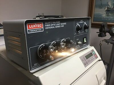 Luxtec Fiberoptics Universal Series 1600 Quartz Halogen Fiber Optic Light Source