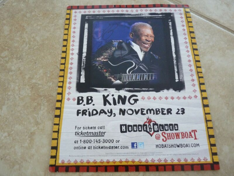 BB King Blues Signed Autographed 8x10 Live Concert Photo Flyer PSA Guaranteed #3