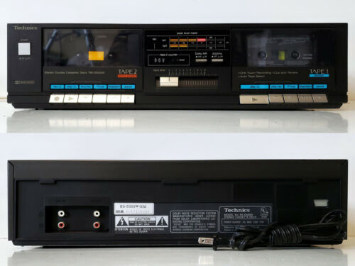Nice Stereo Dual/Double Cassette Deck Player Recorder Technics RS-D550W