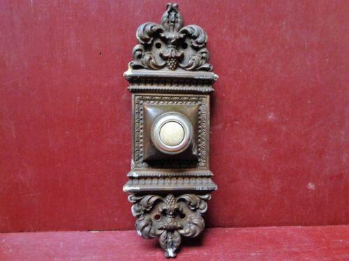 AUTHENTIC RHC ALTENA PATTERN ANTIQUE FANCY HEAVY CAST BRONZE DOORBELL BUTTON #4