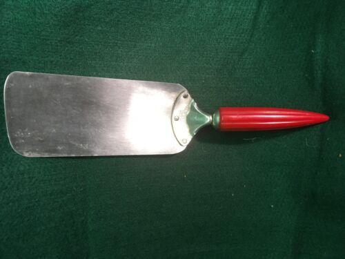 Vintage Androck Stainless Steel Spatula Red Bakelite Bullet Handle