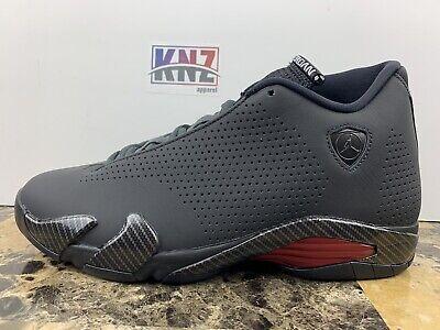 "Men's NIKE Air Jordan 14 Retro SE ""Black Ferrari"" Red | size 9.5 | BQ3685 001"