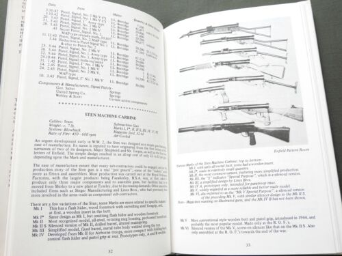 """""""BRITISH SMALL ARMS OF WW2"""" ENFIELD RIFLE WEBLEY PISTOL BREN STEN REFERENCE BOOK"""