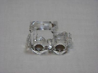 Crystal Train Engine Locamotive Glass Figure Figurine Small Miniature Car Rails