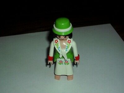 PLAYMOBIL  VICTORIAN FEMALE FIGURE WITH HAT  V.G.C