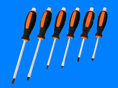 6 tlg. Kraft Profi Schraubendreher Satz Durchgehende Magnetische Klinge P15399