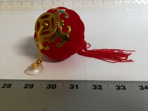 FENG SHUI-CHINESE KNOT WALL CAR HANGING ORNAMENT PENDANT-MINI RED LANTERN SUCKER