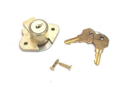 New Ccl Desk Drawer Door Lock Keyed Alike 34 Cylinder Brass 02067