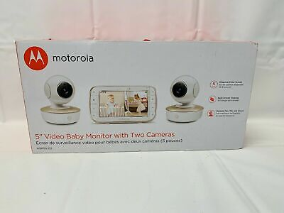 Motorola MBP50G2 5 inch Portable Video Baby Monitor, 2 Cameras OB
