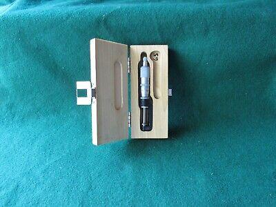 Scherr-tumico 0-1 Hub Disc Micrometer. .0001 Grad. Lock Ratchet Thimble.