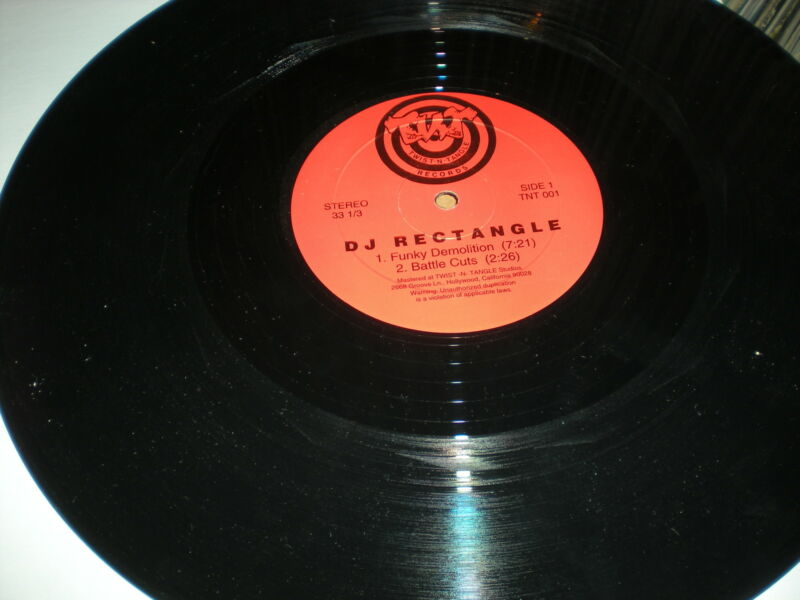 DJ Rectangle Funky Demolition VINYL Battle Cuts Serious DJ Samples Not 4 Pop